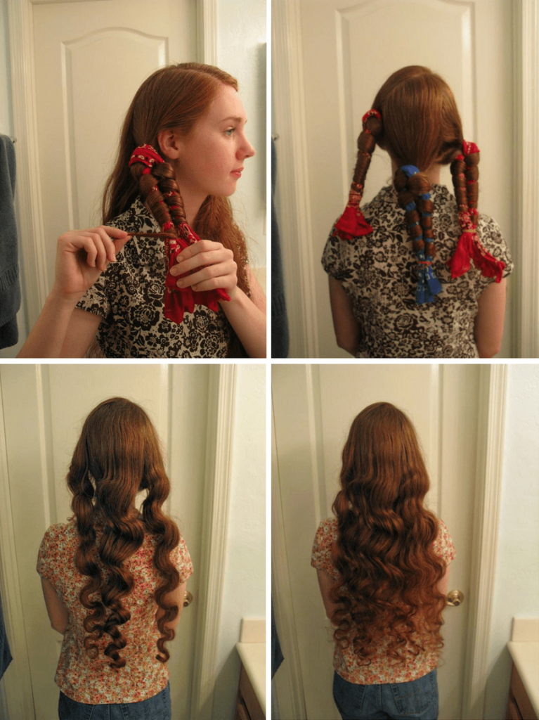 No Heat Curls With Bandanas