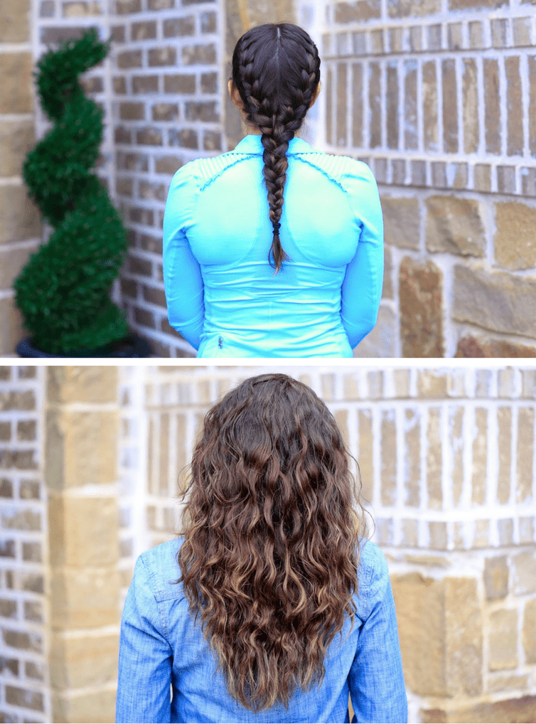 No Heat Curls With Braids