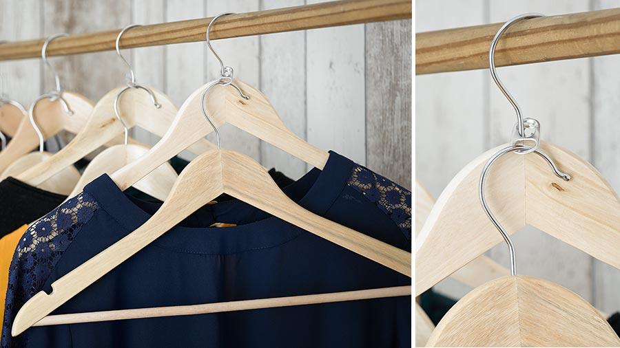 Double Hanger Closet Hack