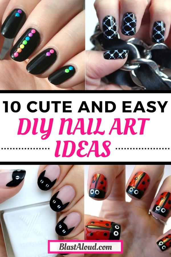 10 Cute And Easy Diy Nail Art Ideas