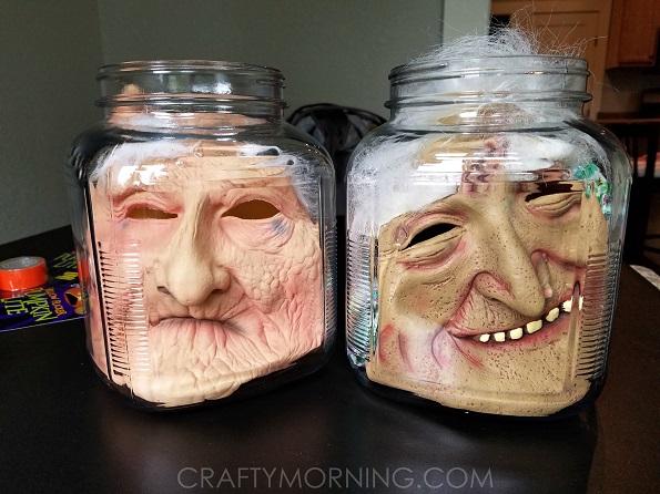 Head In A Jar Halloween Decorations