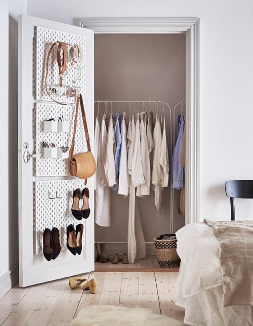 Pegboard Inside Closet Organization