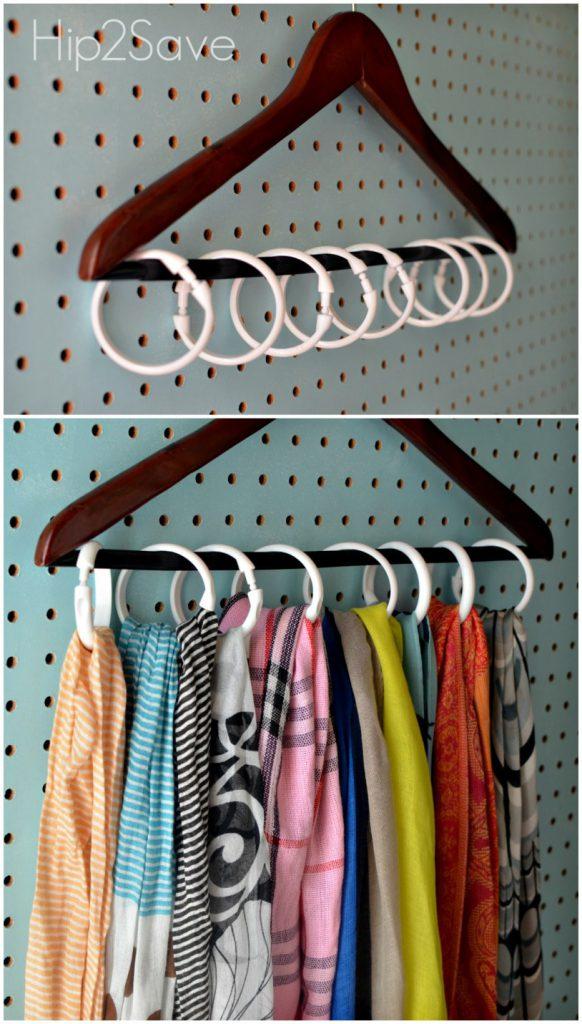 Shower Rings Closet Storage