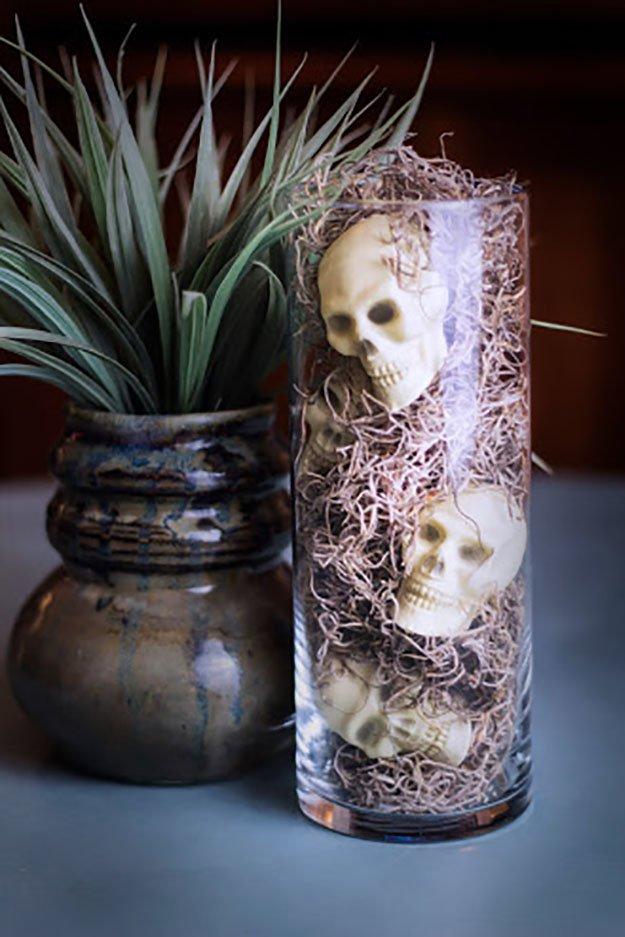 Vase of Skulls for Halloween