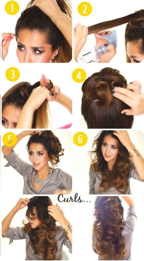 No Heat Curls Bun