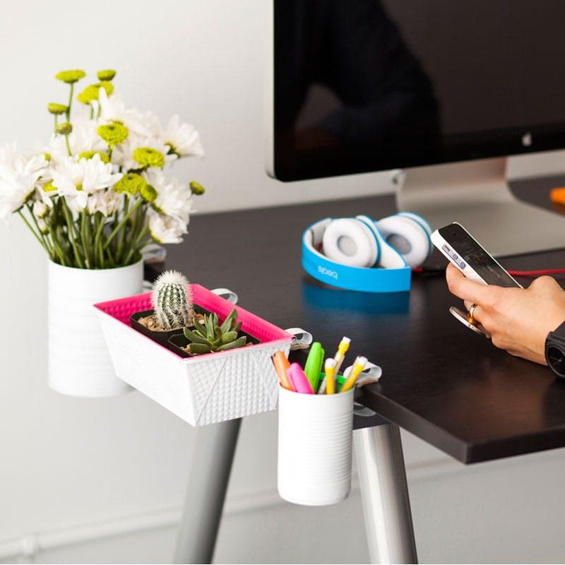 DIY Clip-On Desk Organization Ideas