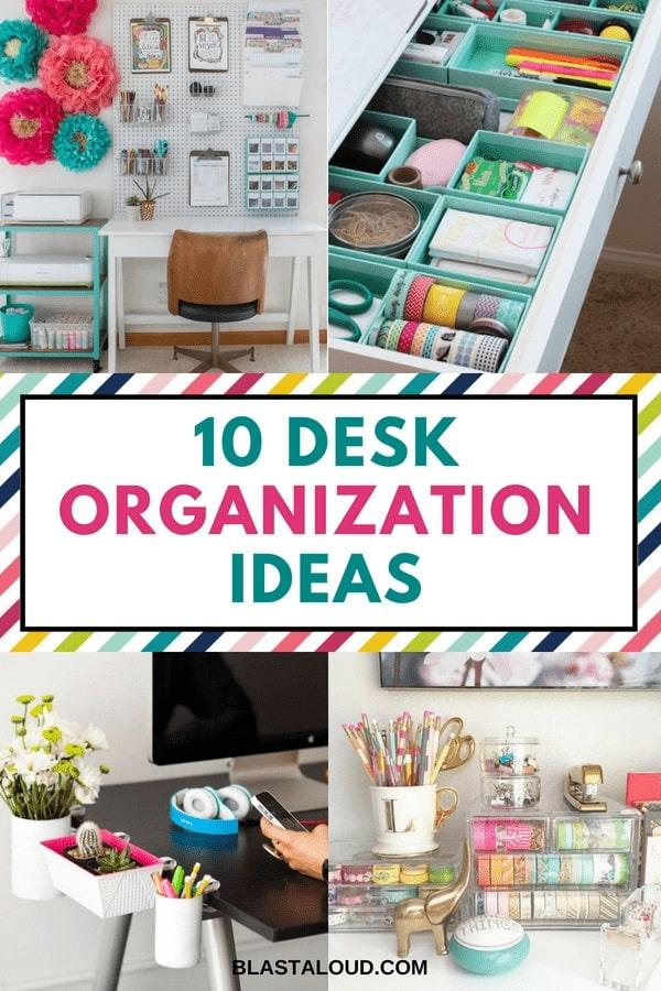 DIY Desk Organization Ideas
