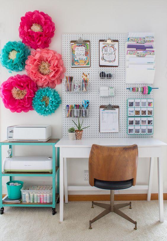 Pegboard Desk Organization Ideas