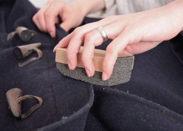 Defuzz your Coat with a Pumice Stone