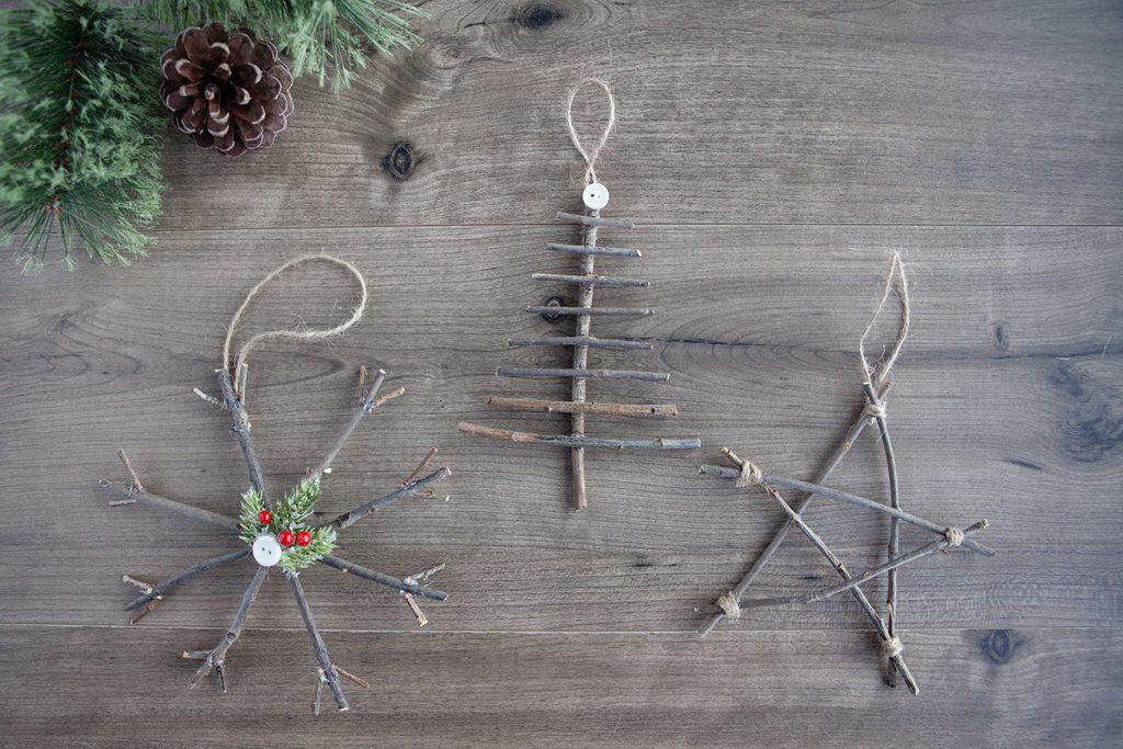 Rustic Twig Christmas Ornaments