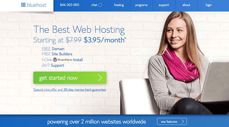 1 Bluehost Home