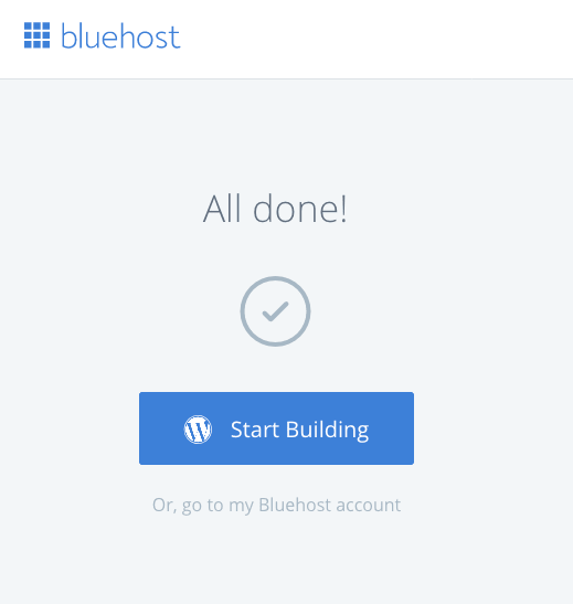 Bluehost WP Login