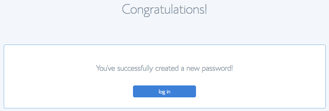 Bluehost Password chosen