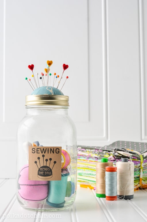 Beginners Sewing Kit In A Jar