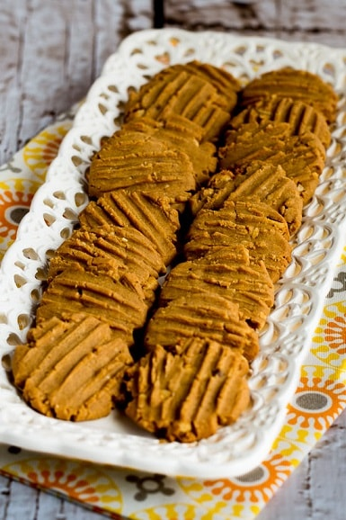 Flourless Sugar Free Peanut Butter Cookies
