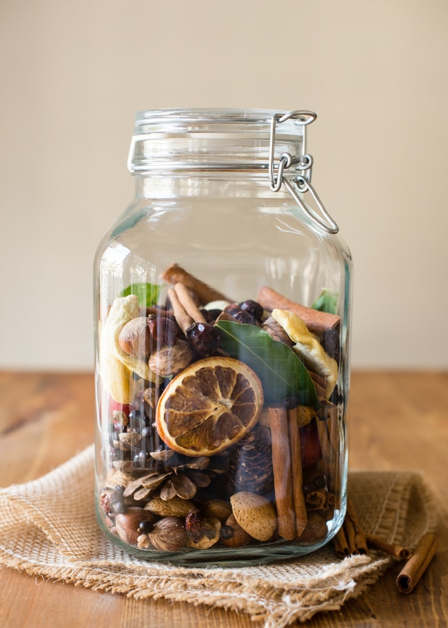 Fruit and Nut Potpourri in a Jar