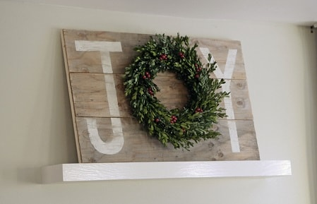Joy Christmas Sign Wall Art