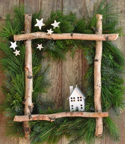 Little House Christmas Wreath
