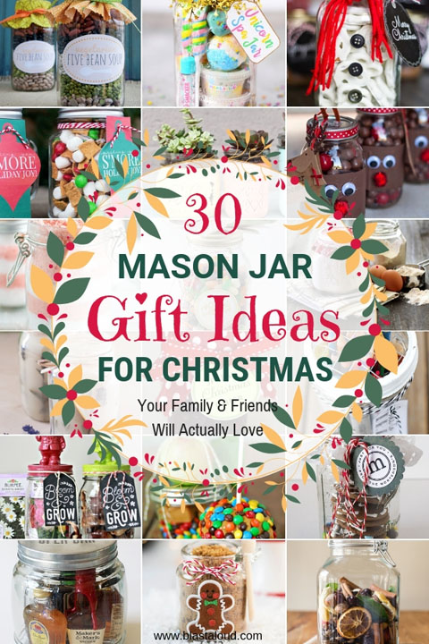 Mason jar gifts for Christmas