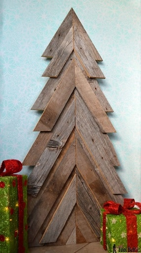 Rustic Wood Christmas Tree