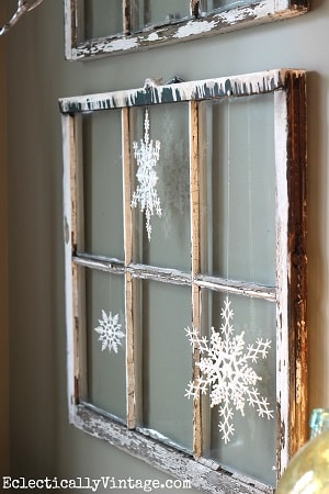 Vintage Window Snowflakes