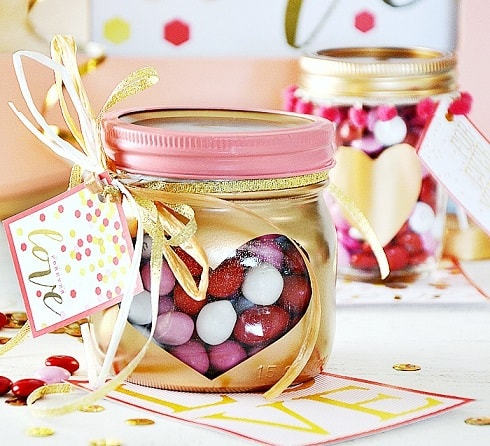 Heart Mason Jar