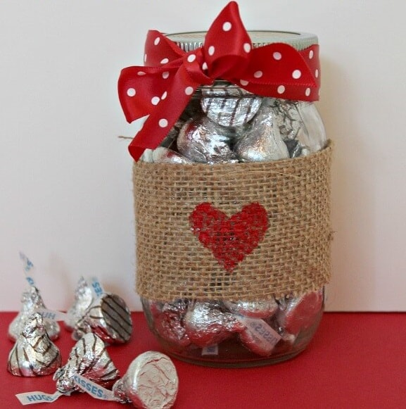 Hugs and Kisses Mason Jar