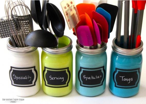 Kitchen utensil organizers