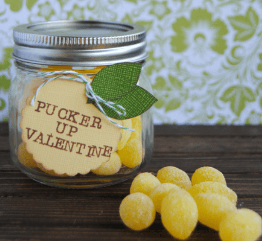 Lemon Drop Valentines Mason Jar Gift