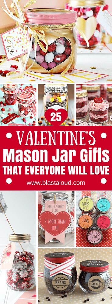Wow absolutely love these valentines mason jar gifts! Surprise your sweetheart this valentines day with these easy DIY gifts. Must try on valentines day for valentines gifts! #valentines #valentinesday #masonjars #valentinesgifts #valentinesideas