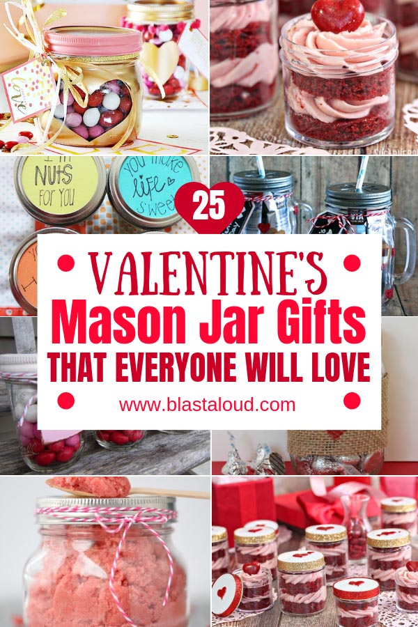 Easy DIY Valentines Mason jar gifts