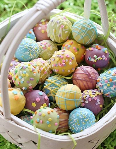 Easy Easter Desserts Recipes: Easter Egg Cake Balls