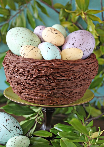 Easy Easter Desserts Recipes: Easter Nest Cake