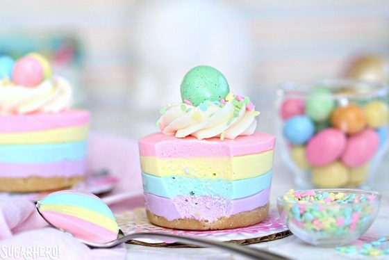 Easy Easter Desserts Recipes: Easter No-Bake Mini Cheesecakes