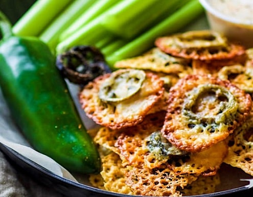 Low Carb Keto Snacks On The Go: Easy Baked Jalapeno Cheese Crisps