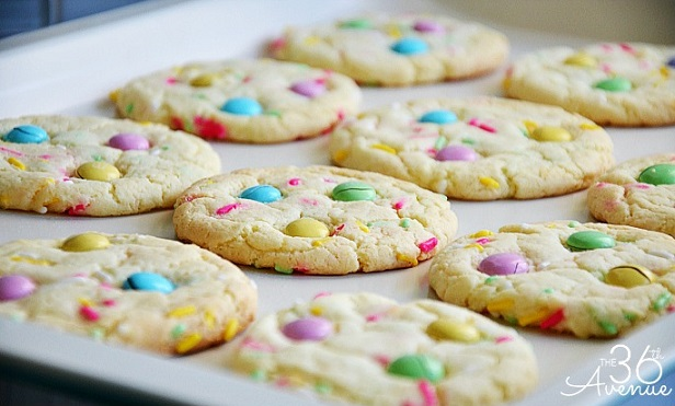 Easy Easter Desserts Recipes: Funfetti Cake Mix Cookies