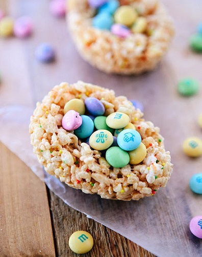 Easy Easter Desserts Recipes: Lemon Chocolate Rice Krispies Treats For Easter