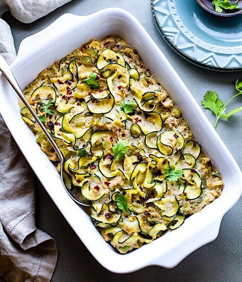 Paleo Recipes For Beginners: Paleo Tuna Green Chile Zoodle Casserole