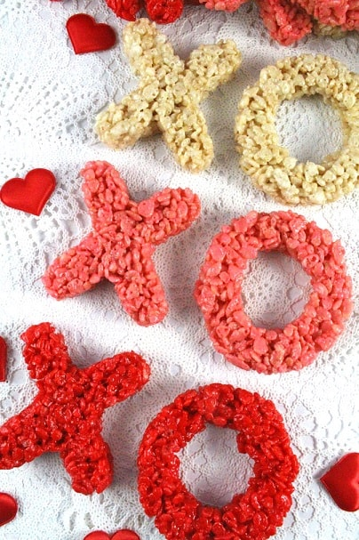 XOXO Rice Krispie Treats