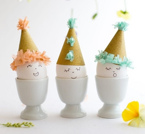 DIY Easter Egg Decorating Ideas: DIY Easter Eggs in Party Hats