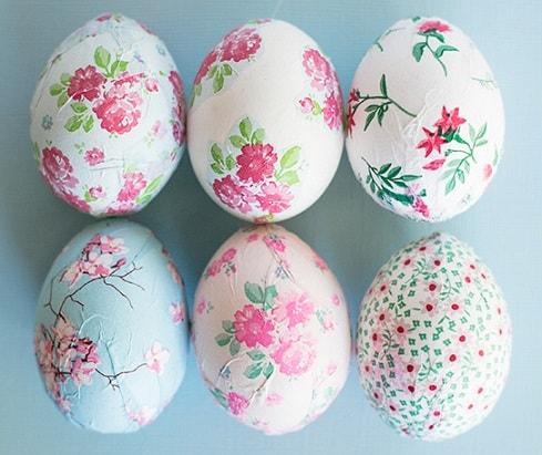 DIY Easter Egg Decorating Ideas: Decoupage eggs