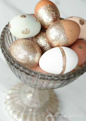 DIY Easter Egg Decorating Ideas: Glitter Easter Eggs