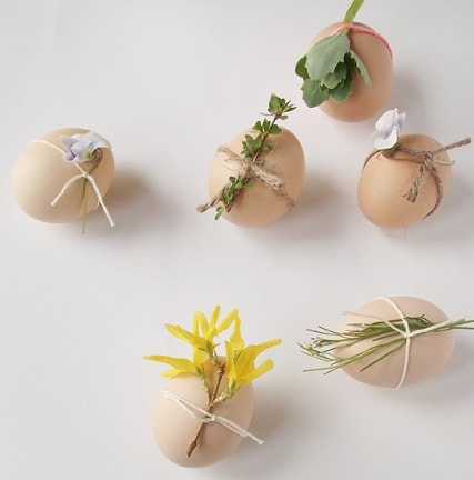 DIY Easter Egg Decorating Ideas: Natural Decorated Easter Eggs