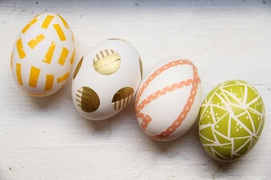 DIY Easter Egg Decorating Ideas: Washi Tape Easter Eggs
