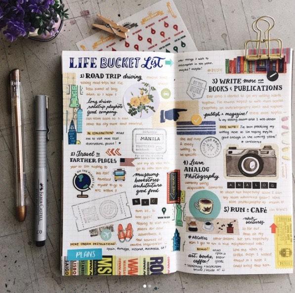 Bullet Journal Ideas: Bucket List