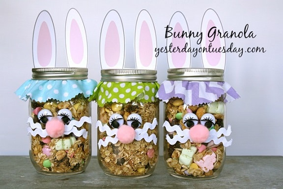 Easter Mason Jar Ideas: Bunny Granola