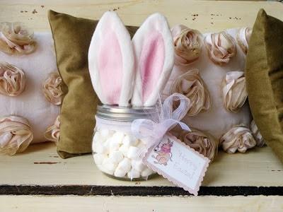 Easter Mason Jar Ideas: DIY Easter Bunny Jar