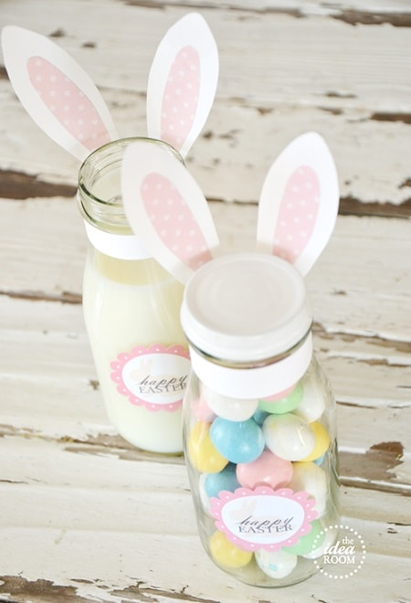 25 diy easter mason jar ideas that everyone will love easter bunny gift jars labels negle Choice Image