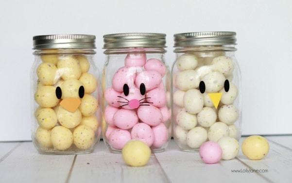 Easter Mason Jar Ideas: Easter Mason Jar Craft Favors