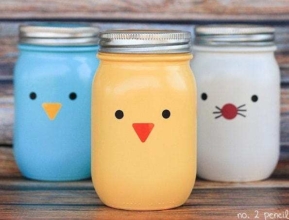 Easter Mason Jar Ideas: Easter Mason Jar Faces